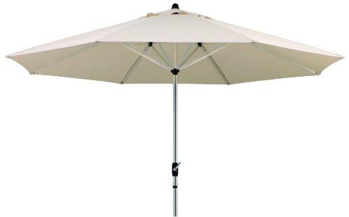 Schneider Sonnenschirm Florenz, natur, 400 cm rund ♥ 8.7 kg ♥ Sonnenschirm 4 Meter ♥ Bespannung ohne Volant ♥ mit air-vent
