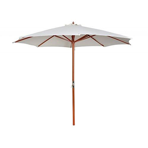 vidaXL 300cm Sonnenschirm + Kurbel 3 m Marktschirm Landhaus Schirm Sonnenschutz 40437 ♥ 1 x Kurbel