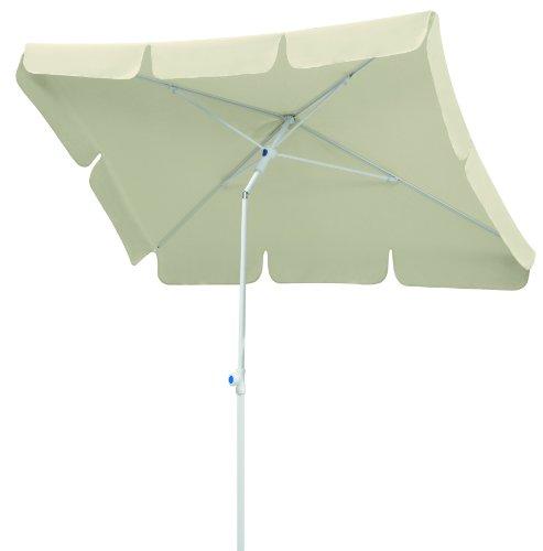 Schneider Sonnenschirm Ibiza, natur, 180x120 cm rechteckig, Gestell Stahl, Bespannung Polyester, 2.6 kg ♥ Sonnenschirm eckig ♥ Metallknicker mit Druckknopf