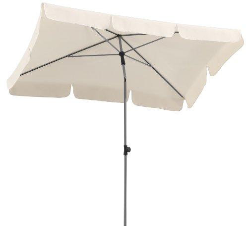 Schneider Sonnenschirm Locarno, natur, 180x120 cm rechteckig, 2.3 kg ♥ Sonnenschirm eckig ♥ 1 x großer handsympathischer Schieber mit Taste