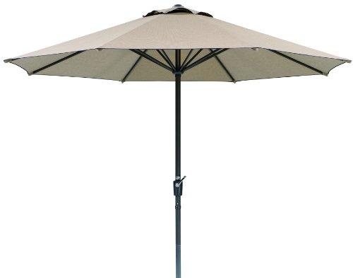 Schneider Sonnenschirm Korsika, natur, 320 cm rund ♥ 8.1 kg ♥ Sonnenschirm rund ♥ ohne Volant ♥ mit air-vent