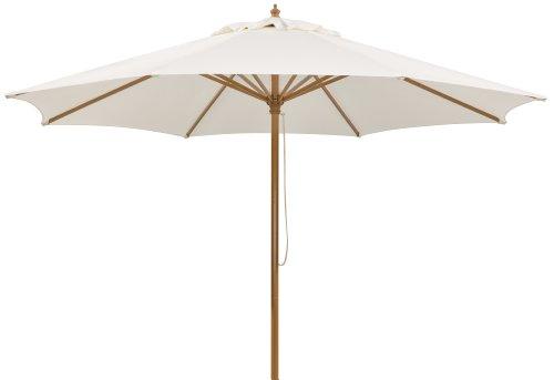 Schneider Sonnenschirm Malaga, natur, 300 cm rund, Gestell Aluminium/Stahl, Bespannung Polyester, 8 kg ♥ Sonnenschirm achteckig