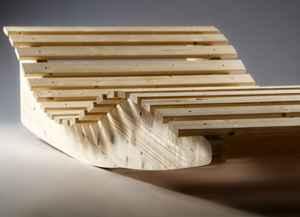 TUGA Holztech Naturholz massive wetterfeste extrem stabile Schaukelliege ♥ Massivholzliege ♥ Schaukelliege ♥ Durch die leicht geschwungene Form der Wangen ist ein dezentes wippen möglich