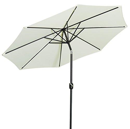 Gartenfreude Sonnenschirm, Durchmesser 270 cm ♥ Sonnenschirm rund ♥ Kurbelbedienung ♥ Knickgelenk ♥ 8 x Streben