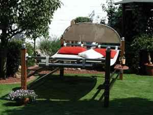 Leco Duo Bangkirai Luxusliege ROYAL Sonnenliege Gartenliege Liege Doppelliege bis 250kg belastbar ♥ Luxusliege ♥ inkl. 2 verschiebbare Ablagetische