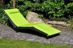 Leco Sonnenliege mit Gasdruckfeder, grün ♥ Sonnenliege ♥ Ergonomisch geformte Sonnenliege in modernem Design