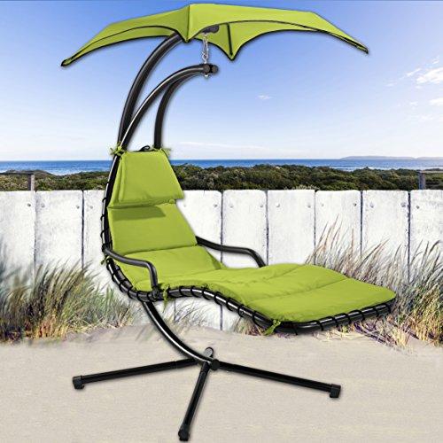 Schwingliege Hängeliege Sonnenliege Dreamchair ♥ Exklusive Schwingliege für Terrasse, Garten und Balkon ♥ inkl. Auflage und Kissen