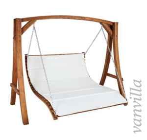 Hollywoodschaukel ALBARELLA DUO Doppelliege ♥ Hollywoodschaukel ♥ Massive Ketten und Haken sorgen für ein angenehmes wie auch sicheres Schaukeln der Sitzbänke bzw Sessel
