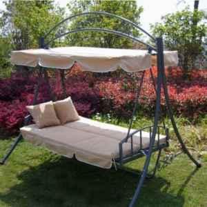 Luxus Loywe Hollywoodschaukel Gartenschaukel mit Bettfunktion LW51 ♥ Hollywoodschaukel mit Bettfunktion  ♥ inklusive Auflagen und 2 weicher Kissen
